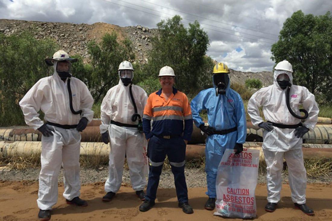 Asbestos removal gear